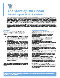 State of Our Ocean report factsheet